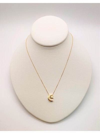 Gold Neclakes 18Kt Moon and...